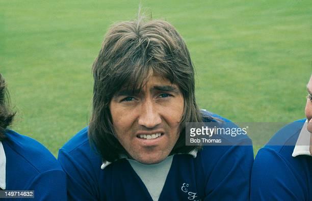 Everton winger Gary Jones, circa 1975. Everton