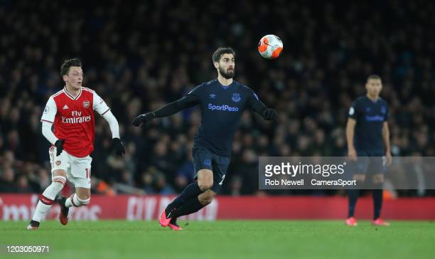 Everton's Andre Gomes during the Premier League match between Arsenal FC and Everton FC at Emirates Stadium on February 23 2020 in London United...