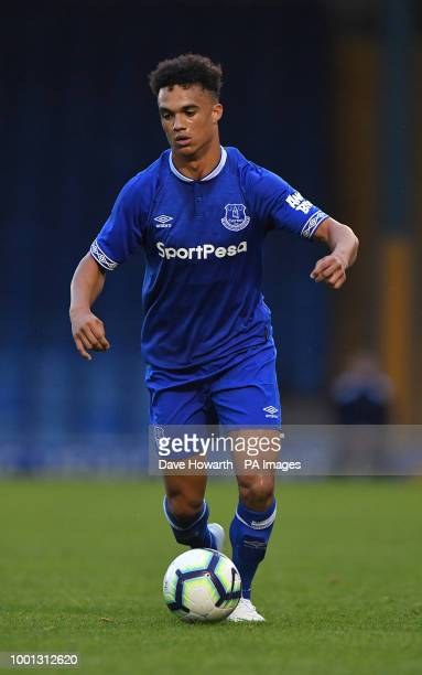 Everton's Antonee Robinson in action during the pre season friendly at Gigg Lane Bury