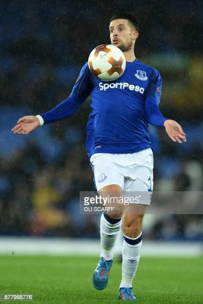 Everton's Belgian striker Kevin Mirallas controls the ball during the UEFA Europa League Group E football match between Everton and Atalanta at...