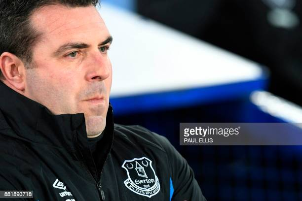 Everton's caretaker manager David Unsworth is seen ahead of the English Premier League football match between Everton and West Ham United at Goodison...