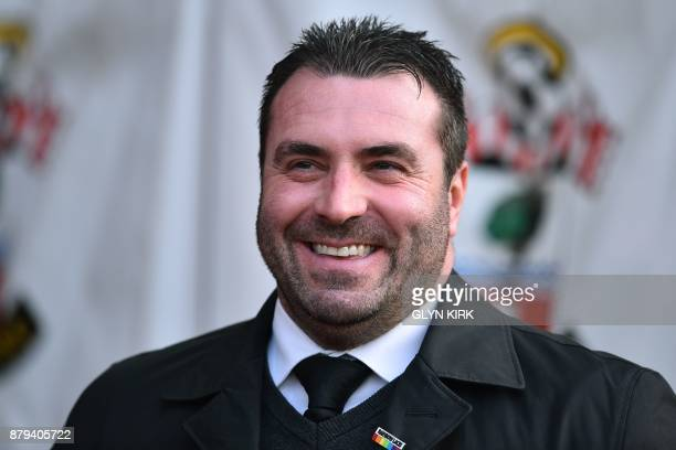 Everton's caretaker manager David Unsworth smiles ahead of kick off in the English Premier League football match between Southampton and Everton at...
