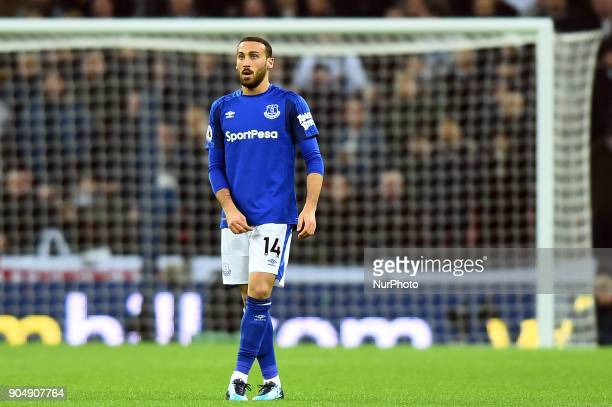 Everton's Cenk Tosun during the Premier League match between Tottenham Hotspur against Everton at Wembley Stadium London England on 13 Jan 2018