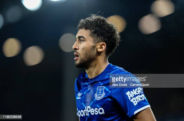 Everton's Dominic Calvert-Lewin during the Premier League match between Everton FC and Newcastle United at Goodison Park on January 21, 2020 in...