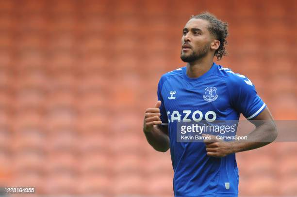 Everton's Dominic Calvert-Lewin during the Pre-Season Friendly match between Blackpool and Everton at Bloomfield Road on August 22, 2020 in...