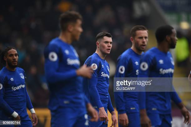 Everton's English defender Michael Keane is pictured during the English Premier League football match between Burnley and Everton at Turf Moor in...