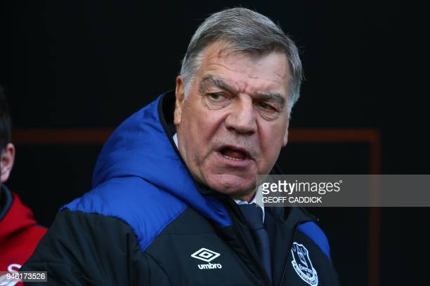Everton's English manager Sam Allardyce arrives for the English Premier League football match between Swansea City and Everton at The Liberty Stadium...
