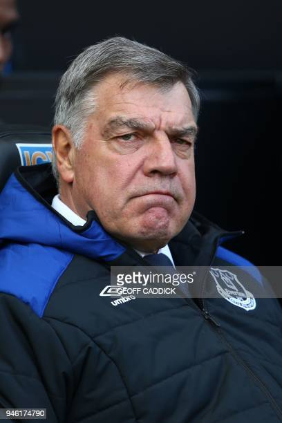 Everton's English manager Sam Allardyce awaits kick off in the English Premier League football match between Swansea City and Everton at The Liberty...