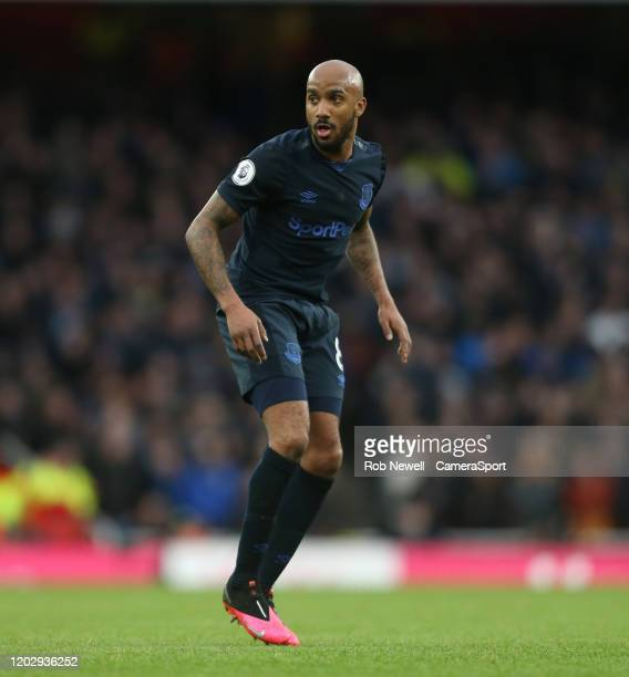Everton's Fabian Delph during the Premier League match between Arsenal FC and Everton FC at Emirates Stadium on February 23 2020 in London United...