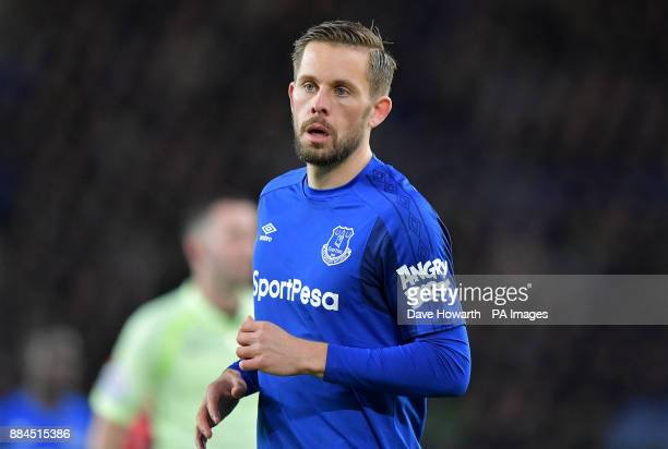 Everton's Gylfi Sigurdsson during the Premier League match at Goodison Park Liverpool PRESS ASSOCIATION Photo Picture date Saturday December 2 2017