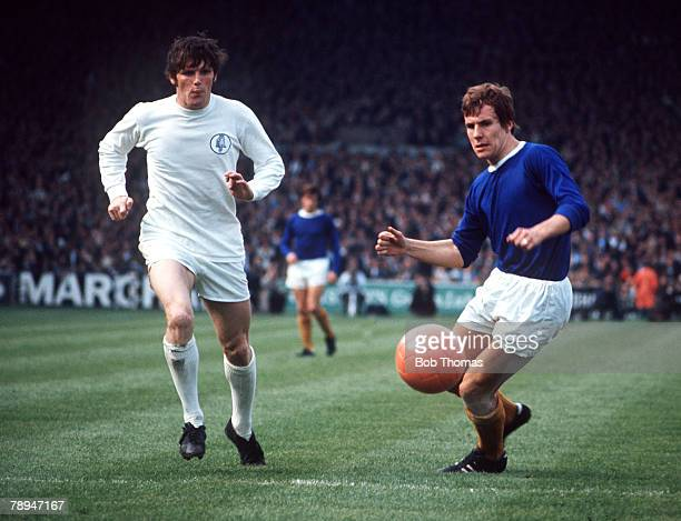 1970's Everton's Joe Royle in action against Leeds United