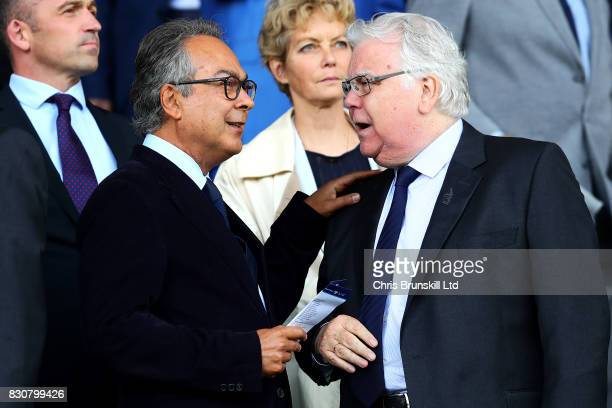 Everton's majority shareholder Farhad Moshiri looks on next to chairman Bill Kenwright during the Premier League match between Everton and Stoke City...