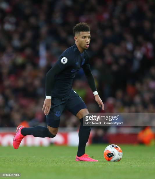 Everton's Mason Holgate during the Premier League match between Arsenal FC and Everton FC at Emirates Stadium on February 23 2020 in London United...