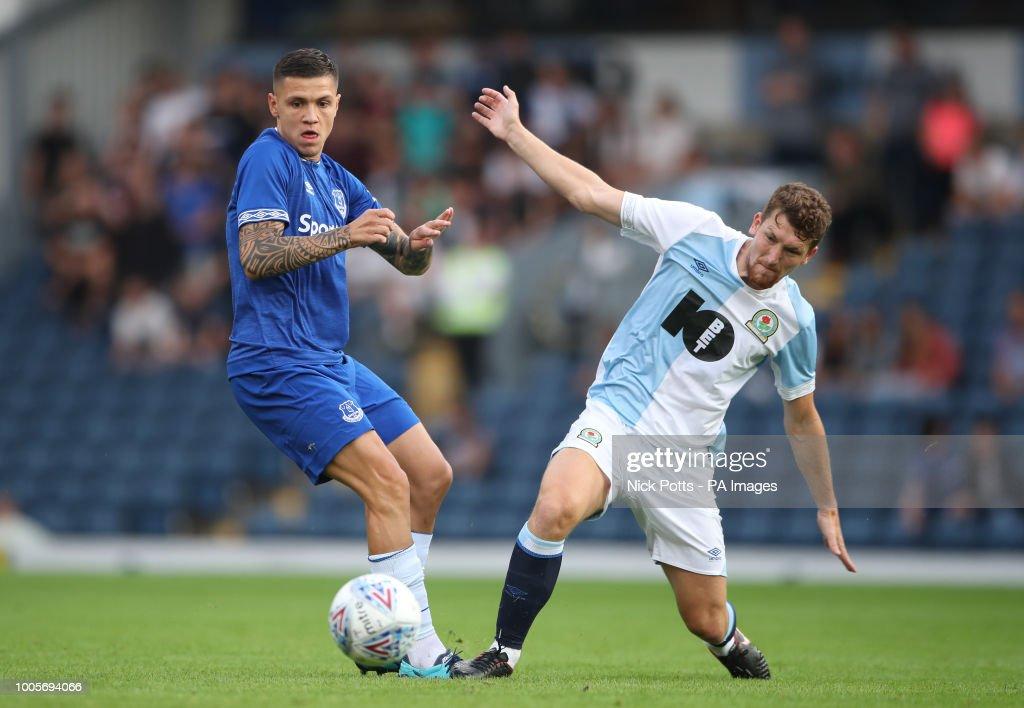 Everton's Muhamed Besic Battles With Blackburn Rovers
