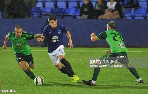 Everton's Muhamed Besic on the ball against Celta Vigo