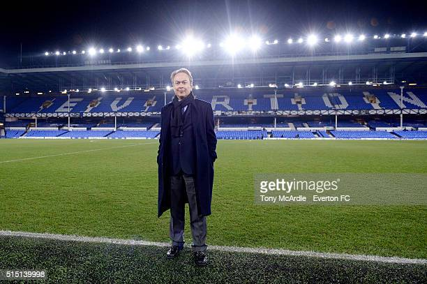 Everton's new major share holder Farhad Moshiri poses for a photo after The Emirates FA Cup Sixth Round match between Everton and Chelsea at Goodison...