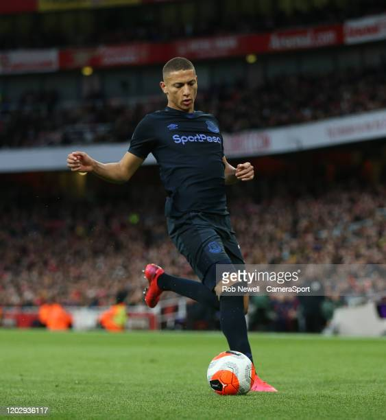 Everton's Richarlison during the Premier League match between Arsenal FC and Everton FC at Emirates Stadium on February 23 2020 in London United...