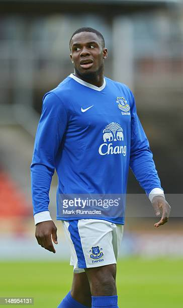 Everton's Victor Anichebe during the pre-season friendly match between Dundee and Everton, at Dens Park on July 19, 2012 in Dundee, Scotland.