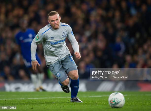 Everton's Wayne Rooney during the Carabao Cup Fourth Round match between Chelsea and Everton at Stamford Bridge on October 25 2017 in London England