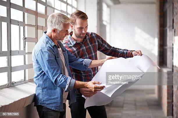 Jeder Anfänger Architekten braucht eine helfende hand