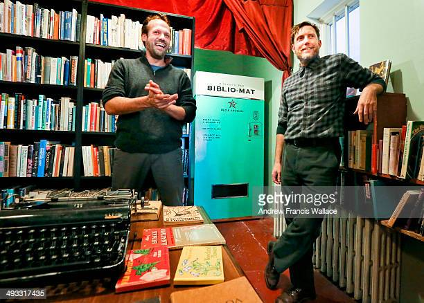 Every book is a surprise at the Bibliomat the latest in hipster technology at the Monkey's Paw at Dundas and Ossingnton It's owner Stephen Fowler...
