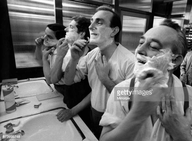 Every day at the factory of the Wilkinson Sword Company in Cramlington, outside Newcastle, 270 men who make the razor blades shave on duty as part of...