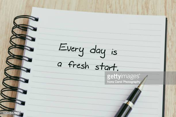 every day is a fresh start - wikipedia:citation stock pictures, royalty-free photos & images