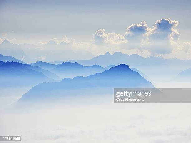 every day new hills to climb... - schwyz stock pictures, royalty-free photos & images