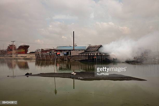 Every day these factories release smoke around it in Dhaka Bangladesh on 22 August 2016 People from the southern part of Bangladesh are the victims...