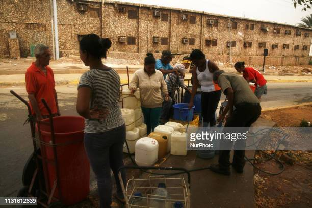 Every day Venezuelans must walk up to eight kilometers to find water in any pipe tank or well on the streets of the city of Maracaibo Venezuela Today...