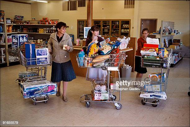 Every Friday morning Susan Timpson who is part of the small polygamist community of Centennial Park goes grocery shopping at the local store with the...
