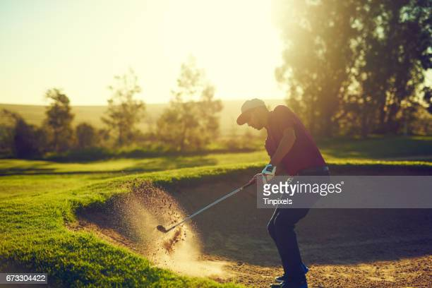 every game comes with it's challenges - golf swing stock pictures, royalty-free photos & images