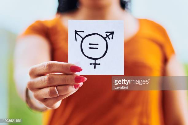 every gender should be treated equally - gender fluid stock pictures, royalty-free photos & images
