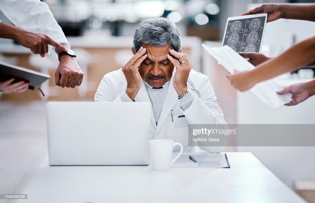 Cada trabajo puede conducir a burnout : Foto de stock