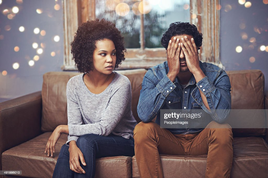 Every marriage has its bad days... : Stock Photo
