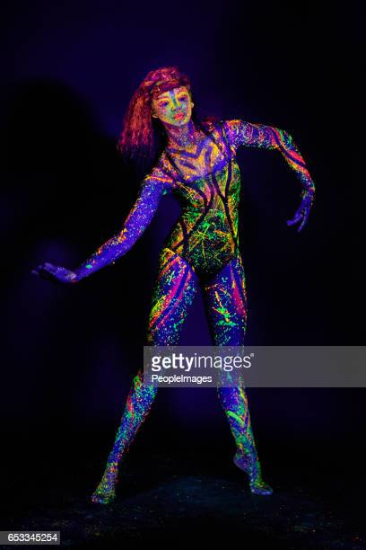 every moment is highlighted - female body painting stock photos and pictures