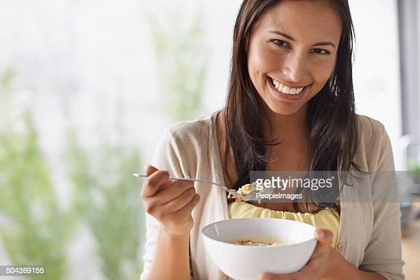 Chaque journée devrait commencer par un bol de céréales