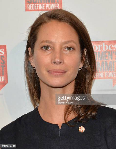 Every Mother Counts founder Christy Turlington Burns attends the 2016 Forbes Women's Summit at Pier Sixty at Chelsea Piers on May 12 2016 in New York...
