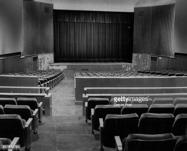 Every seat has a perfect view of the proscenium opening from the top of the mulberry velour curtain to the Prussian blue panels at the side Credit...