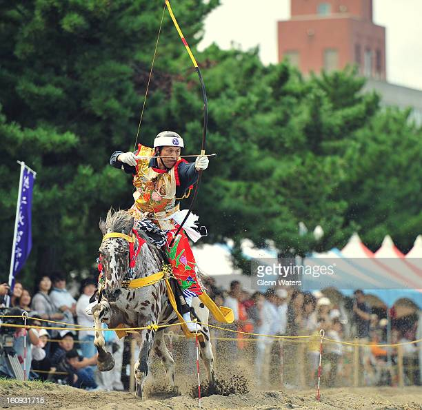 CONTENT] Every September in Aomori northern Japan is held the Yabusame contest on a small beach in Aomori bay This is one of the Japanese archers...