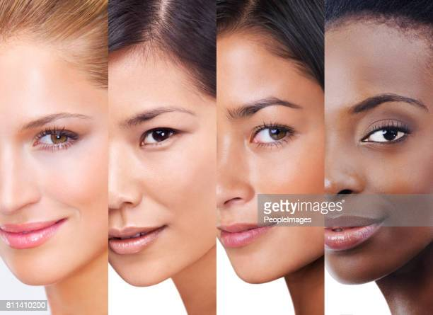 every shade of beauty - ethnicity stock pictures, royalty-free photos & images