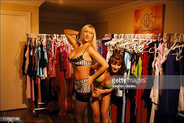 Every Thursday evening prostitutes have an opportunity to buy new 'work clothes' from a salesman who comes to the ranch to sell outfits to the girls...