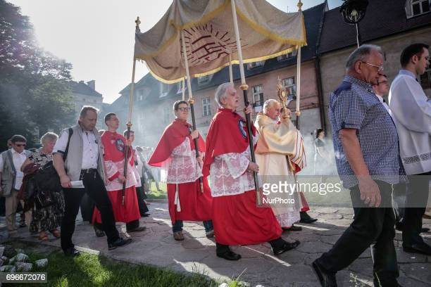 Every year 60 days after Easter the catholic procession walks through the streets of Krakow during the Feast of Corpus Christi By tradition Catholics...