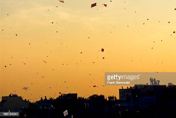 Every year at January 14th the sky above Ahmedabad is completely full of kites