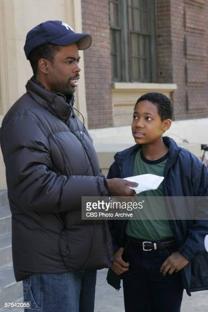 'Everybody Hates Corleone'Executive producer/cocreator/narrator Chris Rock spends some time with star Tyler James Williams while directing the...