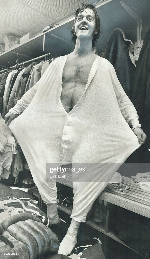 Everybody loves a Clown? Gilles Gratton is at his ebullient best as he models his underwear in dress : News Photo
