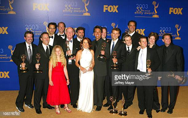 Everybody Loves Raymond cast members Madylin Sweeten Peter Boyle Patricia Heaton Ray Romano Brad Garrett with producers writers won for Best Comedy...