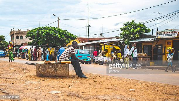 Everyday life in african town. Djougou, Benin, West Africa.
