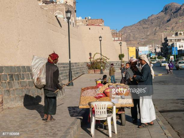 everyday life in sana'a - sanaa stock pictures, royalty-free photos & images