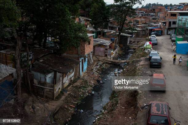 Everyday life in the neighborhood of Jardim Peri, one of the poorest neighborhoods in the city of São Paulo where the Brazilian national team's...